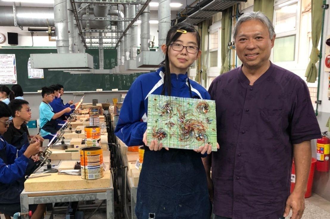 竹塹琉璃美感藝術教育再提升 全國近百所學校竹市富禮國中脫穎而出活動照片i